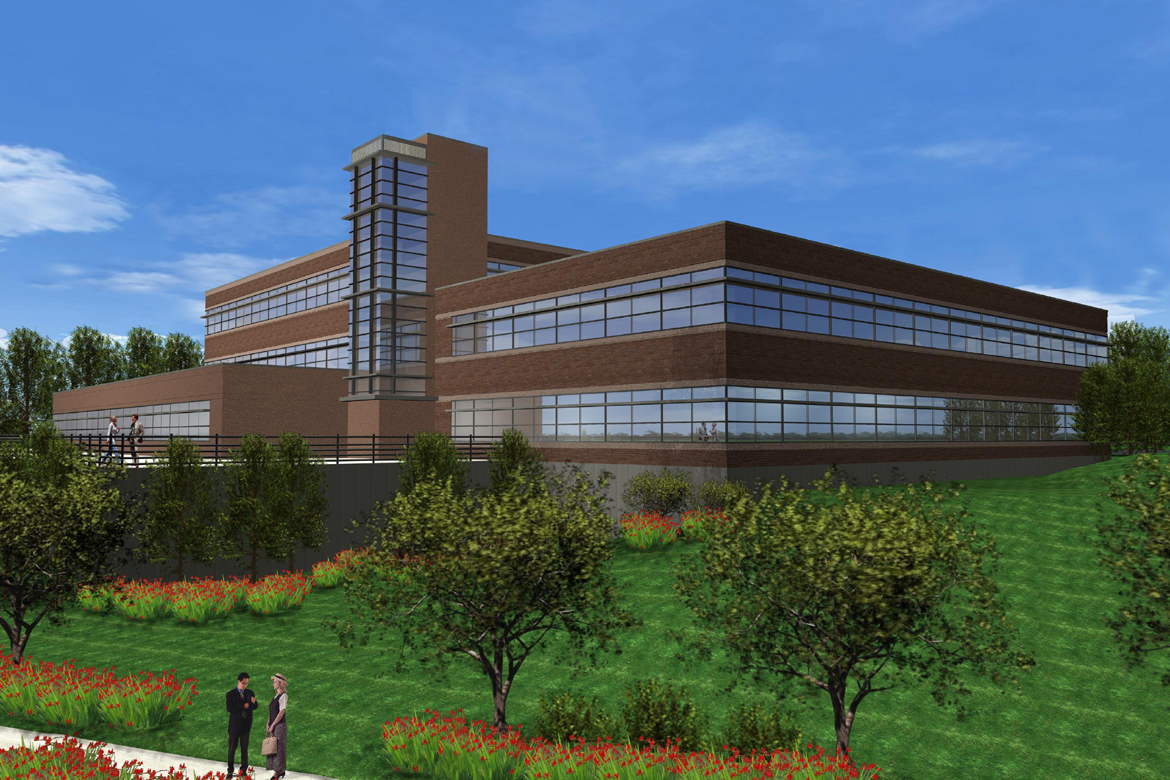 A proposed rendering of a key office building in Victor, NY