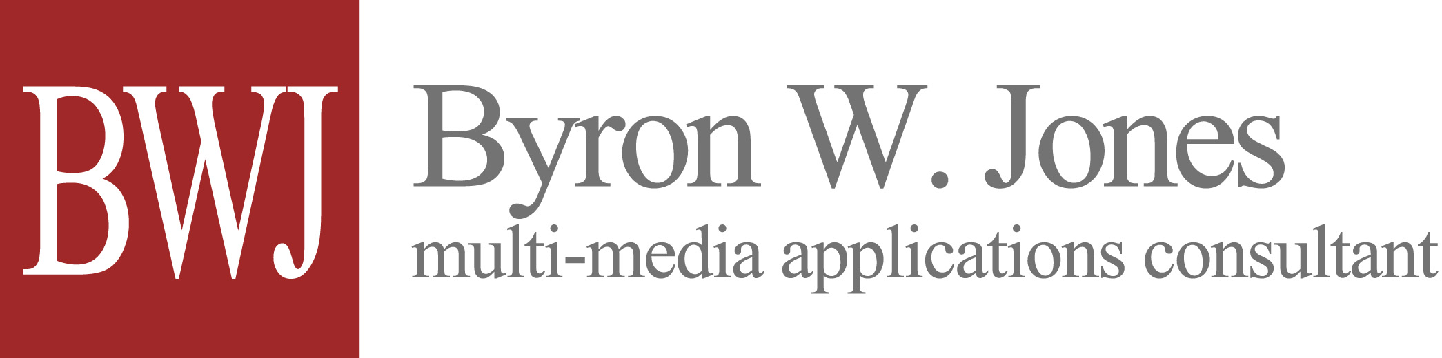 Byron W. Jones, multi-media applications development consultant